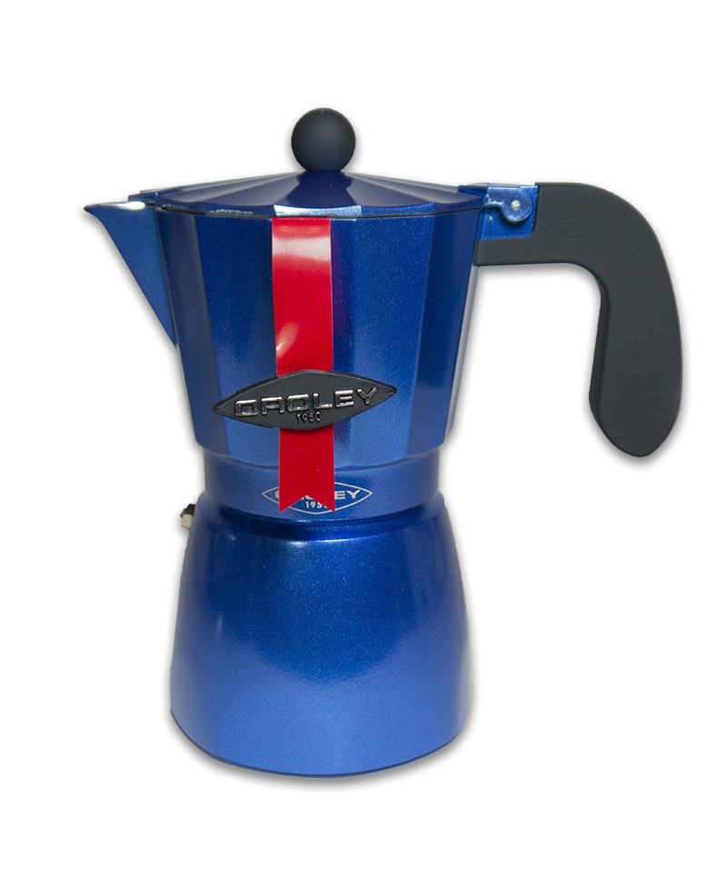 Oroley Aluminium 3 Cups Aluminium Coffe Maker